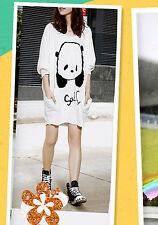 NEW Asian Korean Womens Fashion Style Oversize Freesize Casual Loose Panda Shirt