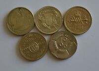 England Large Old Style £2 Two Pound Coin Set Football Dove Bill Rights Bank