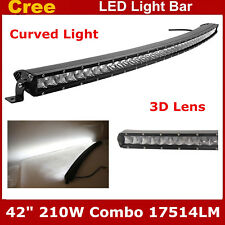 "42"" 210W Flood&Spot Curved CREE LED Single Row Light Bar Off-road UTE Jeep Ford"