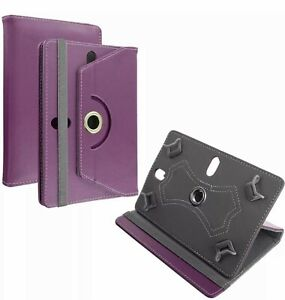 """For Universal Android Tablets 7"""" 8"""" 9"""" 10"""" Folio Leather Case Cover 360° Purple"""