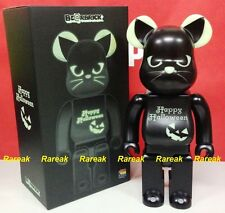 Medicom Be@rbrick 2016 Halloween 400% Black Cat GID Green Bearbrick 1pc
