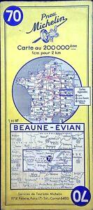Antigua Postal de Carreteras Michelin Coleccionista - 200 000é - Beaune-Evian