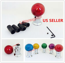 Universal Red Carbon Fiber Ball Manual Auto Car Gear Stick Shifter Shift Knob 23