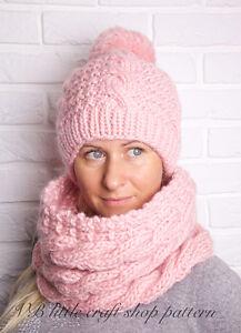 Aran Hat and Cowl knitting pattern