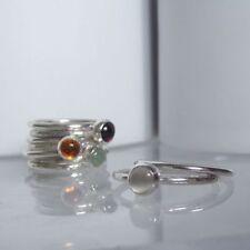Rose Quartz Solitaire Fine Rings