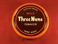 "Bell's Three Nuns Vintage Empty Tobacco Tin 4"" Collectible Tin"