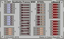 Eduard 1/72 Seat Belts France WWI STEEL # 73047