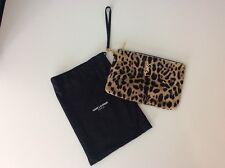 Yves Saint Laurent YSL Pony Hair Clutch Bag, Leopard Print, Gold Vgc