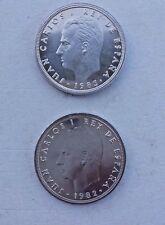 Lote 50 Pesetas 1982 y 1983 M Coronada SIN CIRCULAR Rey Juan Carlos I FNMT