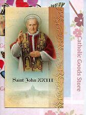St. Saint John XXIII - Biography, prayer, Feast Day, etc... Folder Card