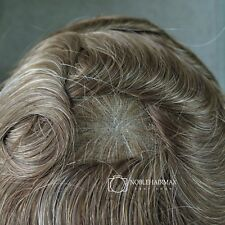 Full Swiss Lace Hair Replacement Toupee Mens Hairpieces Natural Hairline #1720