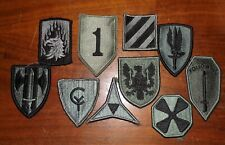 US ARMY ACU PATCH LOT OF 10 HOOK & LOOP PATCHES