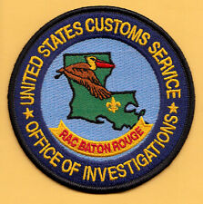 C39 * USC BATON ROUGE INVESTIGATION FED AGENT POLICE PATCH DEPARTMENT TREASURY