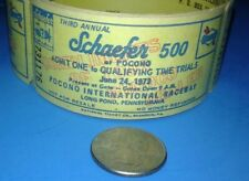 """1973 """"UNUSED"""" 3rd ANNUAL SCHAEFER 500 AT POCONO TIME TRIALS TICKET"""