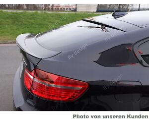 für BMW X6 Tuning E71 Heckspoiler Spoiler X6 M Optik Lackiert SAPHIR SCHWARZ lip