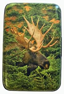 North American Moose RFID Secure Theft Protection Credit Card Armored Wallet New