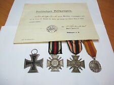 WW1 German Medals Including Iron Cross II class Hindenburg and Flanders Crosses