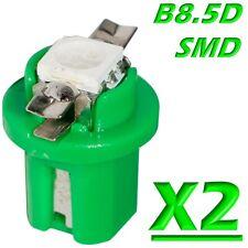 2 Pezzi LED T5 B8.5D SMD VERDE Lampade Lampadine Cruscotto e Quadro Strumenti