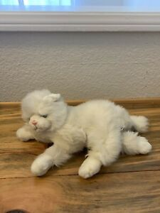 "Vintage Russ Berrie KIMMY Persian White Kitty Cat Plush  Blue Eyes 15"" Long"