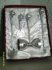 4 pc. Horse Head Vintage Bar Set - New in the box - 1960's - 1970's