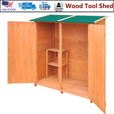 Wood Tool Shed Garden Tool Shed Storage Room Space Large Shade Organizer Outdoor