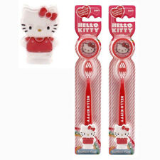 Hello Kitty Kids Ready Go 2 pack Toothbrushes Travel Kit SANRIO NEW