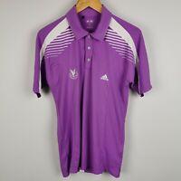 ~ Adidas ~ Gleneagles ~ Adizero Men's Polo Shirt ~ S/P Small ~ Purple & White ~