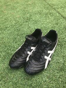 Asics Lethal Scrum - UK 8.5 - Black - Mens Soft Ground Rugby/Football Boots