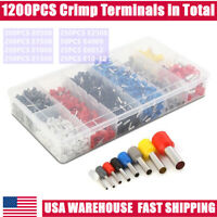 1200PCS Wire Crimp Connectors Cable Cord Pin End Ferrule Tools Terminal Set US
