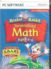 Reader Rabbit Personalized Math Ages 4-6  continually adjusts skill levels  NEW