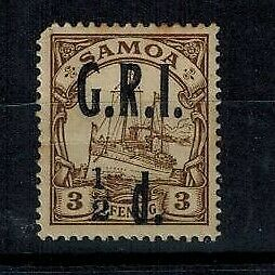 Samoa British Occupation WWI 1/2d on 3PF brown MOG S.G. 101