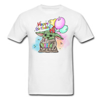 2020 NEW BABY YODA Happy Birthday T Shirt Mandalorian The Child T-Shirt S-6XL