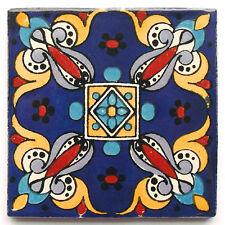 "Handbemalte Fliese ""Arely Azul"" aus Mexiko, Kachel, ca. 10x10cm"