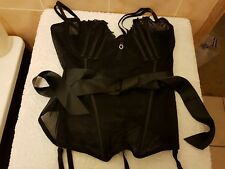 Ann Summers Pure Lace Black  Corset Basque Bustier Size 12  New Without Tags