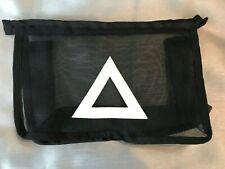 Black mesh see through zip up make up bag. Pencil case. Organiser.