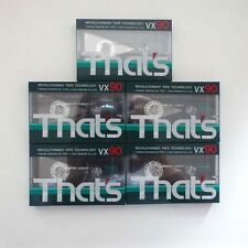 FIVE (5) Thats VX90 Blank Compact Cassette BRAND NEW IN CELLOPHANE