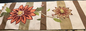 """Pier One Embroidered Floral Table Runner 73"""" X 13"""""""