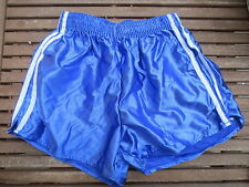 VINTAGE Short NYLON bleu polyamide shiny brillant made France 95 années 80 sport