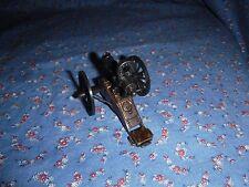 Old Metal Plastic Pencil Sharpener Gatling Gun  3 1/4 Inch Long