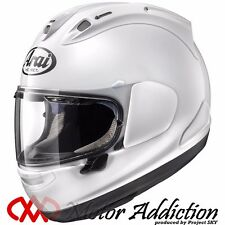 New Arai RX-7X WHITE Motorcycle Full Face Helmet XS, S, M, L, XL