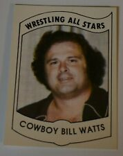 VHTF 1982 Wrestling All Stars COWBOY BILL WATTS Card Series A #35