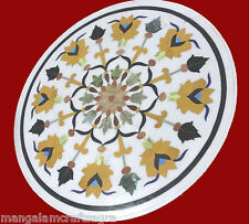 """24"""" Marble Coffee Table Handmade Pietra dura Work Home Decor and Gifts"""