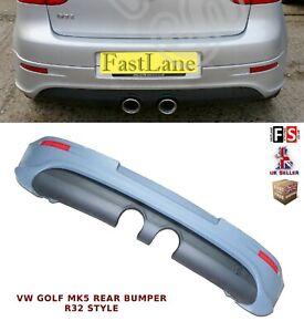 VW GOLF MK5 REAR BUMPER DIFFUSER R32 LOOK BODY KITS 100% OEM FIT TDI GTI FSI