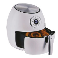 "Emeril 1700W 5.3-qt Digital LED Control Air Fryer with 7"" Cake Pan - White"