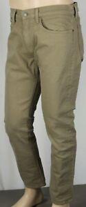 Ralph Lauren Hampton Relaxed Straight Khaki Tan Denim Jeans Leather Tag NWT