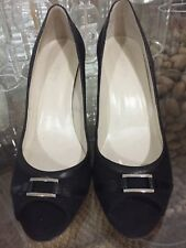 Anne Klein Women's 7 1/2 M Black Heels  KL Kimberlee Made In Italy CUTE
