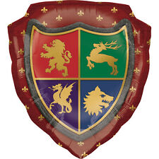 Medieval Shield Balloon Party Decoration Wizard Party Heraldry Medieval Banquet