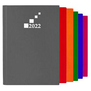 Wochenkalender 2022 DIN A5 Terminplaner Wochentimer Anthrazit, Blau, Grün, Rot