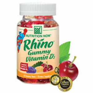 Rhino Gummy Vitamin D 75 chews by Nutrition Now