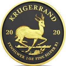Südafrika Krügerrand 2020 Ruthenium Gilded Edition 1 oz 999 Silber Silbermünze